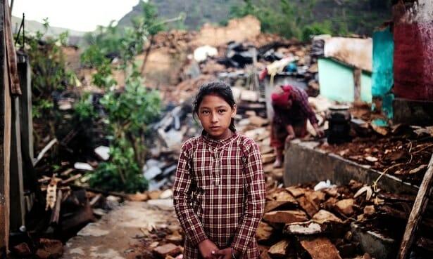 Nepali girl near Kathmandu