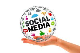 social media in palm of hand