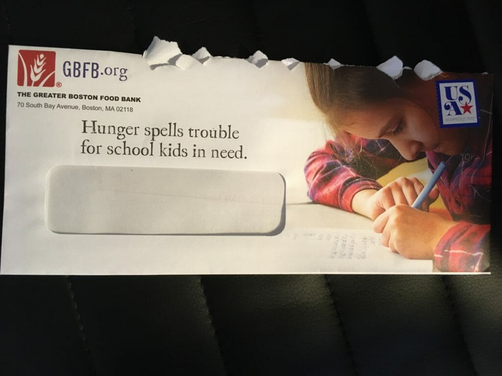 Greater Boston Food Bank envelope
