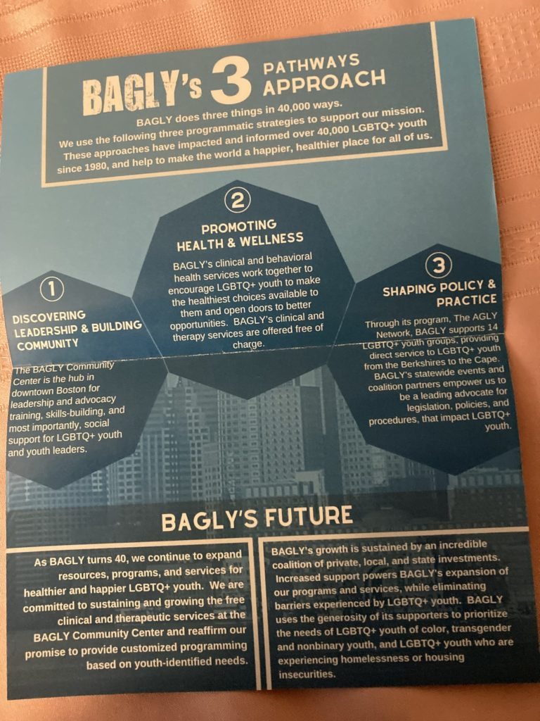 BAGLY welcome flyer